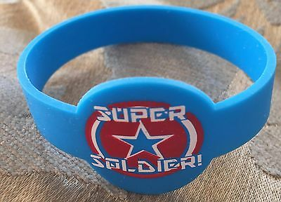 Blue Super Soldier Wristband