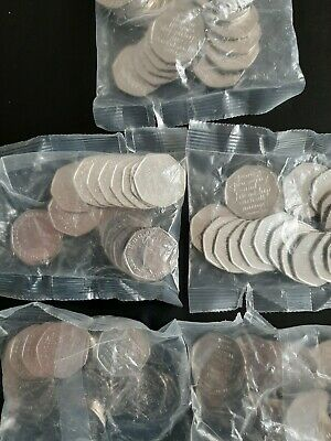 100 X 2020 Brexit 50p Coins Uncirculated from A Sealed Bag