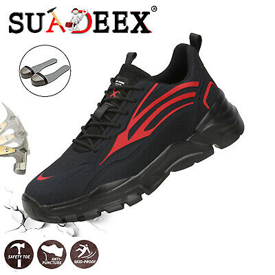 Mens Safety Work Shoes Trainers Steel Toe Cap Hiking lightweight Sports Boots UK
