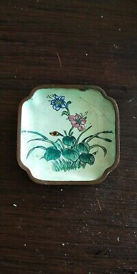 early 20th centry Chinese small  enameled dish