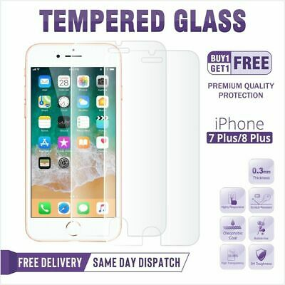 For iPhone 7 6 X 5 8 Plus SE Gorilla Tempered Glass Screen Protector