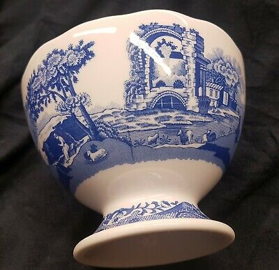 Portmeirion Spode BLUE ITALIAN Footed Dish Brand new