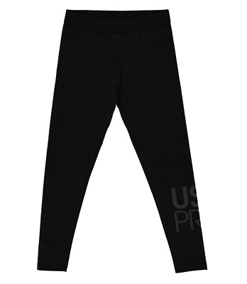 USA PRO Girls Black Jersey Leggings 13-14 Years BNWOT