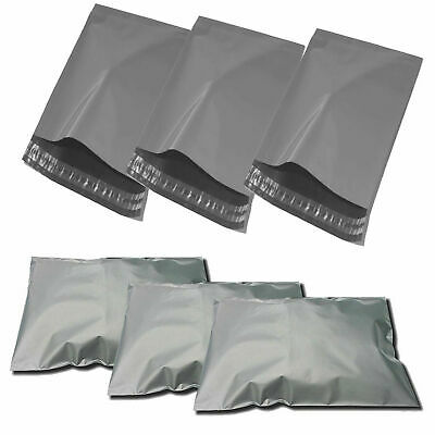 180PCS Mailing Bags THREE SIZES Grey Postal Sacks Plastic Envelopes Pack Postage