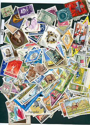2473-WW-aprox 200+stamps-Used/Mint/CTO-various years-Mixed Condition-some dups
