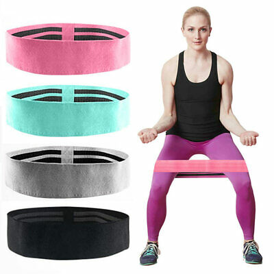 Fabric Resistance Bands Butt Exercise Loop Circles Set Legs Glutes Women UK New