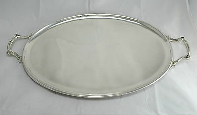 N 3470 Sublime Vassoio Tray Ovale In Argento Sheffield Collection