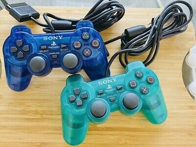 PlayStation 2 PS2 DualShock 2 Controller Sony Blue and Green tested From JP