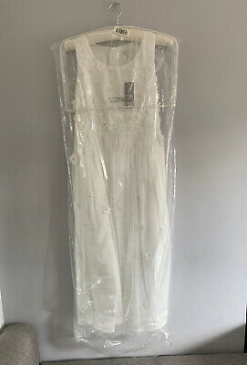 Brand New With Tags Girls Bridesmaids Floral Ivory White Dress Age 14