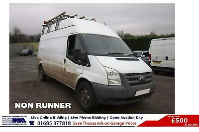 2012 - 61 - Ford Transit T350 2.2Tdci 125Ps Rwd Lwb High Top Van (Guide Price)