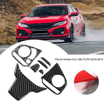 Fits for Honda Civic 10th 2016-2019 Steering Wheel Button Panel Trim Cover US