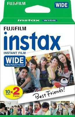 Fujifilm Instax Wide Instant Film For Fuji 200 210 - 300 Wide Cameras 20 Sheets