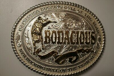 1994-95 PRCA  Bodacious Bull of the Year , Silver Plated belt buckle