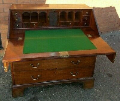 Early George III Mahogany Bureau Secretaire Provenance Croxteth Hall Liverpool