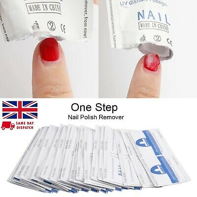 10 Wraps REMOVER Gel Polish 100% Pure Acetone Nail WIPES UV/LED Soak Off Soaked