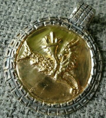 Ancient Roman Gold Silver Amulet Legionary Military Pendant Capricorn 50 AD