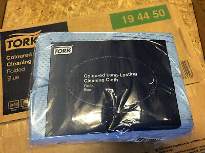 Tork Coloured Long Lasting Cleaning Cloth-blue, 320 Per Box