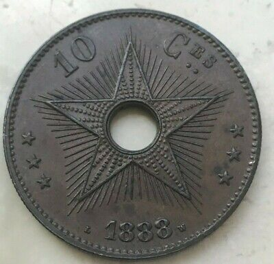 1888 Congo Free State 10 Centimes - Uncirculated