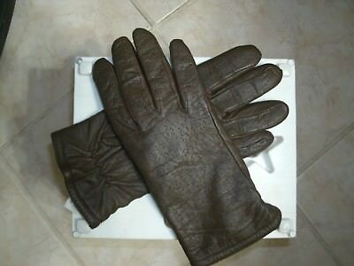 ISOTONER Women's Warm  Brown Leather Gloves Lined Size 7