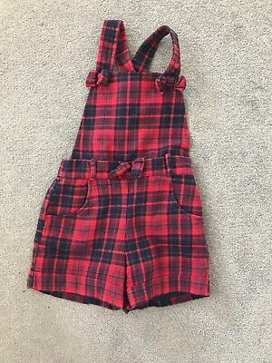 George At Asda Girls Red Tartan Playsuit - 1.5-2 Years