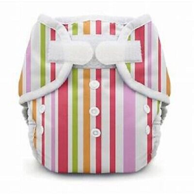 Thirsties Duo Wrap Diaper Cover - Warm Stripes - Size One - Hook Loop Closure