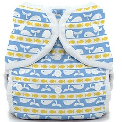 Thirsties Duo Wrap Diaper Cover - Whale Tail - Size Two - Snap Closure