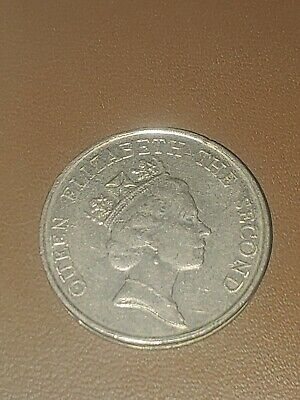 1988 HONG KONG $5 FIVE DOLLAR COIN - Queen Elizabeth II