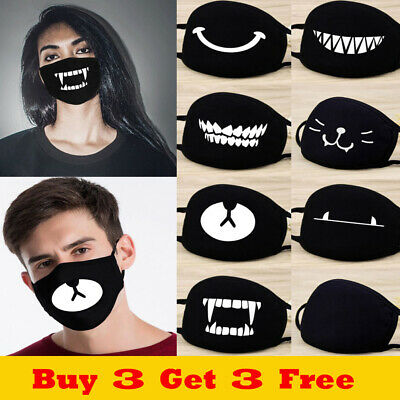 Unisex Anti-Dust Mouth Face Covers Cotton Breathable Protective Reusable Soft UK
