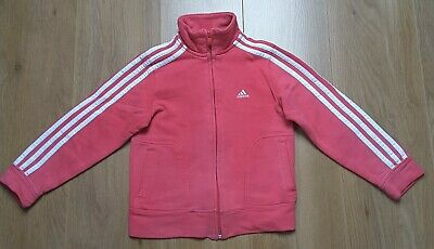 ADIDAS Girls Pink Tracksuit Top age 7-8 years