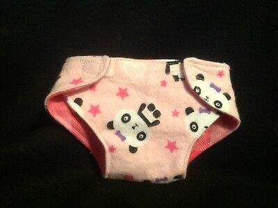 """Cloth Diaper Baby doll Panda bear pink girl 15"""" BITTY BABY CABBAGE PATCH"""