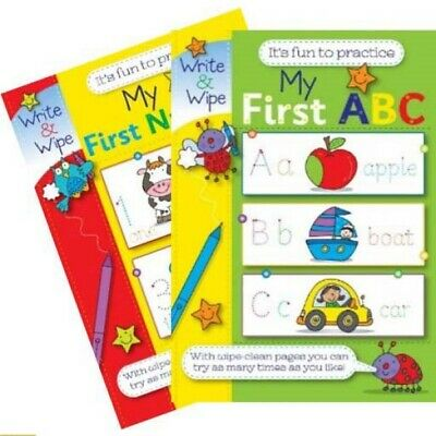 My First Numbers Abc Book Wipe And Clean Reusable Practice Books