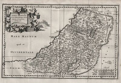 1710 Holy Land Promised Israel Palestine map Karte Sanson Kupferstich engraving