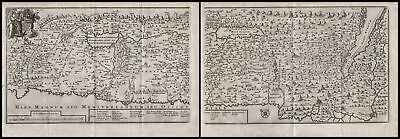 1710 Holy Land Israel map Karte Jacques Bonfrere Kupferstich copper engraving