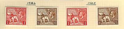 Gb Kgv 1924 & 1925 British Empire Exhibition Mint Hinged With Gum
