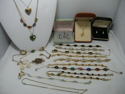 Vintage GOLD FILLED Lot JEWELRY  bracelets necklaces earrings not scrap 119 g