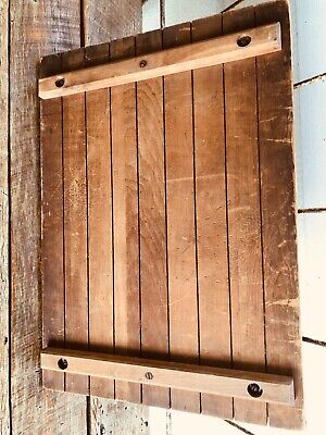 Vintage Lid From Wood Crate Box, Large And Well Made, LARGE nice Wall Display