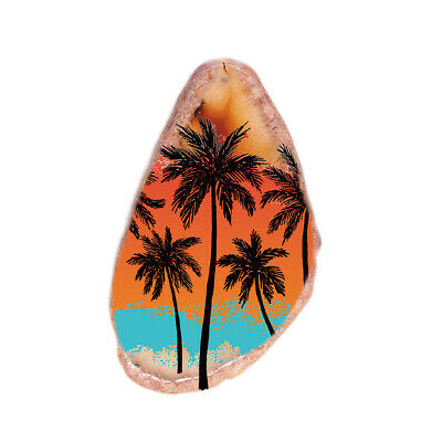 Color Printing Scenery Agate Gemstone Pendant Necklace H1905 0799
