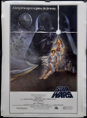 Star Wars 1977 Genuine 30X40 Linenbacked Mint Rolled Movie Poster Mark Hamill