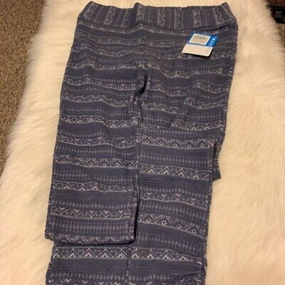 Columbia Sportswear Womens Mountain Lodge Jacquard Leggings Blue Stretch M New