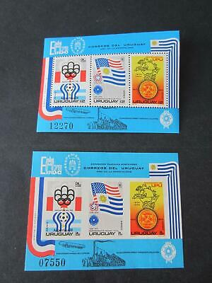 Uruguay C48a rperf and imperf nh sheets for US 1976 anniversary.  1422