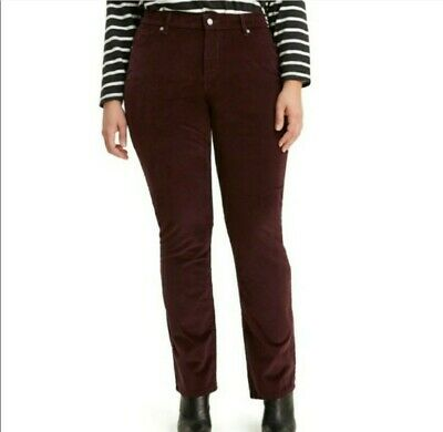 Levi's Womens Jeans Red Size 24W Plus Classic Straight Mid Rise Stretch NWT