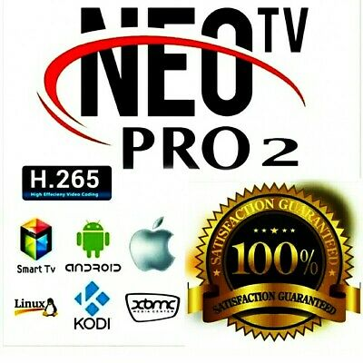 NEO РRО2  АВОNNEМENТ  12Mois  Code Original(Smart tv, Android, M3u) Envoi Rapide