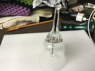 15cm high CRYSTAL DINNER BELL Undamaged VGUC Surplus to need