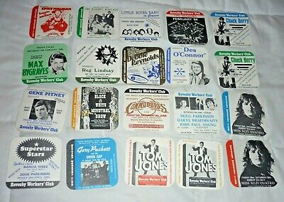 Collectable club coasters - Set of 20 assorted Revesby Workers Club coasters