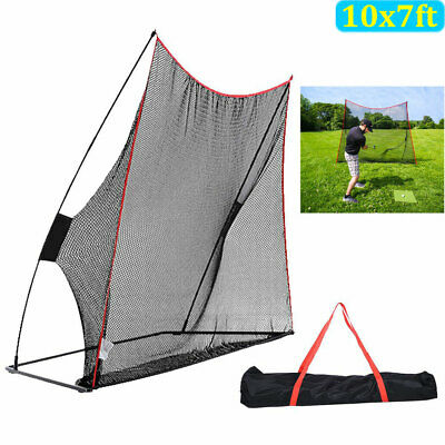 10x7ft Golf Net Golf Practice Large Hitting Area Great For Around Portable