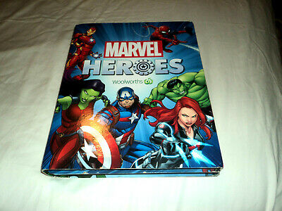 Woolworths Marvel Heroes folder with full disk set