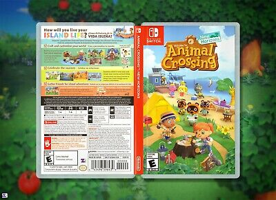 Animal Crossing New Horizons Replacement Cover Insert & Case, Nintendo Switch