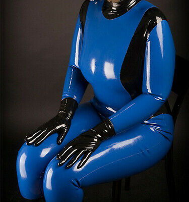 100% Unisex Bodysuit Cosplay Latex Rubber Casual uniform Catsuit 0.4mm S-XXL