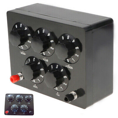 Variable Decade Resistor Resistance Box 0-9999.9 Ohm Fit For Physical Teaching