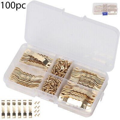 Tool Screw Hooks 100 Set Picture Saw Tooth Hanger Brassed Hanging A whole set